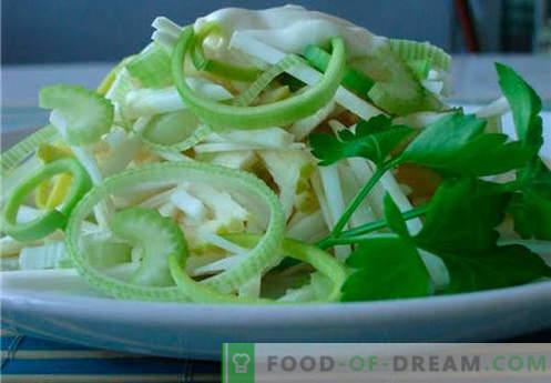 Il sedano e l'insalata di mele sono le migliori ricette. Come cucinare correttamente e gustosa insalata di sedano con una mela.