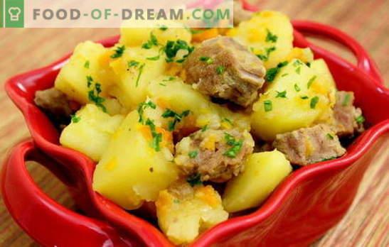Patate stufate con carne di maiale. Ricette di maiale con patate per una cena romantica e un pranzo abbondante