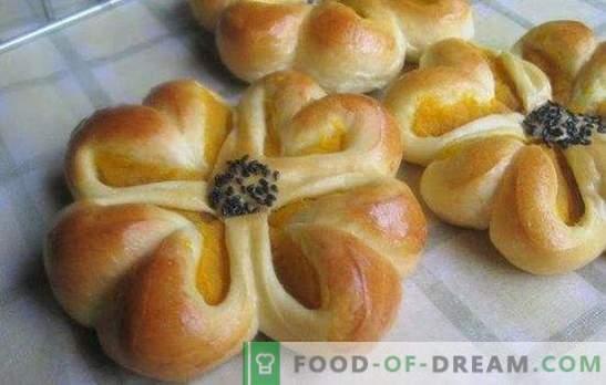 La ricetta per i bei panini di pasta lievitata - noi stessi facciamo a casa i capolavori! Metodi di modellazione e ricette bei rotoli di pasta lievitata