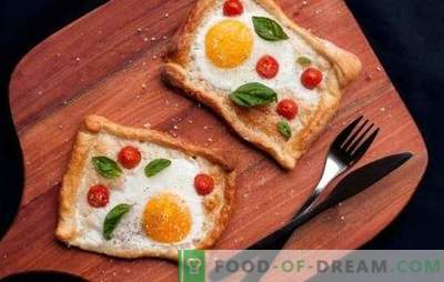 Uova fritte con pomodori - una versione sicura di una colazione veloce o di una cena leggera. Modi per preparare deliziose uova strapazzate con pomodori