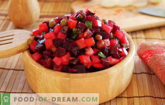 Verdura di vinaigrette - mangia vitamine! Ricette per vinaigrette di verdure: con fagioli, mele, funghi, cavoli