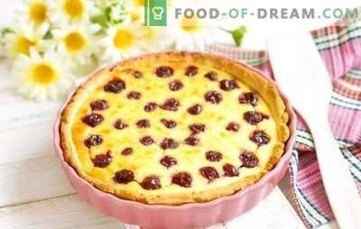 Torta con ciliegie - gusti incredibili! Ricette di diversi dolci con ciliegie: biscotti, torte, torte, strudel, muffin