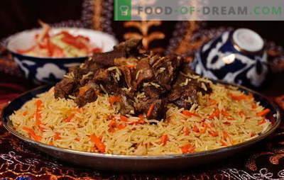 Plov reale uzbeco: ricette e segreti di cucina. Come preparare un pilaf di agnello all'uovo, pollo, con frutta secca