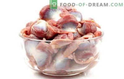 Cuocere gli stomaci di pollo in tutte le regole! Come e quanto cucinare gli stomaci di pollo in acqua, al vapore, in una pentola a cottura lenta