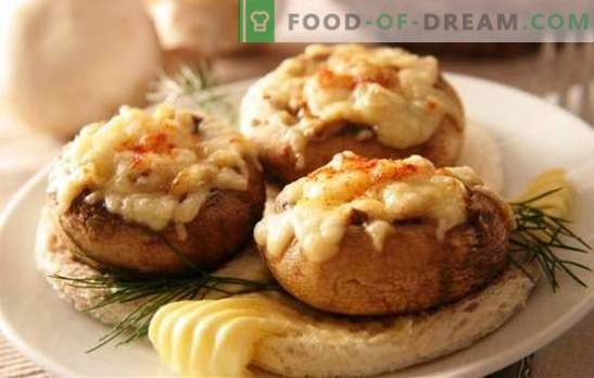 Funghi prataioli al forno con formaggio - funghi spettacolari! Ricette per champignon farciti al forno con formaggio e non solo
