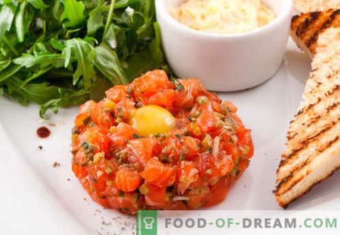 Tartare di salmone - le migliori ricette. Come cucinare correttamente e saporita la tartare di salmone.