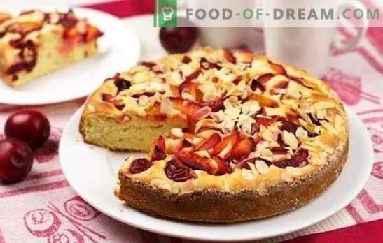 Torta con mele e prugne - miracolo di frutta! Ricette per dolci fatti in casa con mele e prugne di diversi tipi di pasta