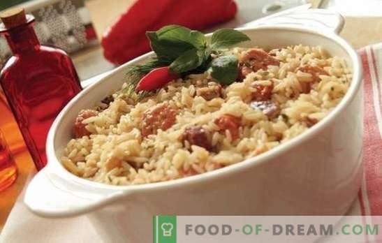 Riso con carne: ricette passo-passo. Come cucinare pilaf in pentole, casseruola o friggere in riso cinese con carne (passo dopo passo)