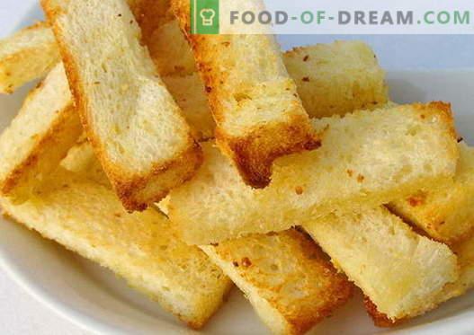 I crostini sono le migliori ricette. Come crostini cotti correttamente e gustosi.