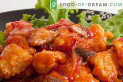 Pollo in salsa agrodolce - le migliori ricette. Come cucinare correttamente e deliziosamente un pollo in salsa agrodolce.