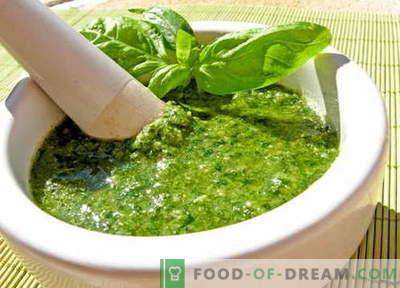 Salsa al pesto - le migliori ricette. Come preparare correttamente e deliziosamente la salsa al pesto.