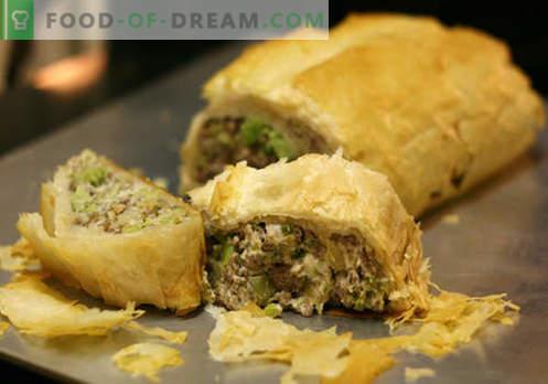 Strudel di carne: le migliori ricette. Come preparare correttamente e gustoso uno strudel con la carne.