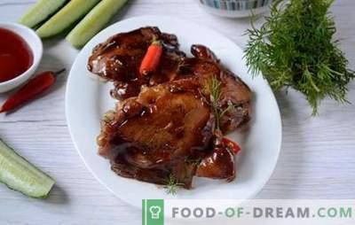 Pollo fritto in salsa di soia in padella - per 20 minuti! Ricetta dell'autore passo dopo passo per il pollo fritto dietetico in salsa di soia