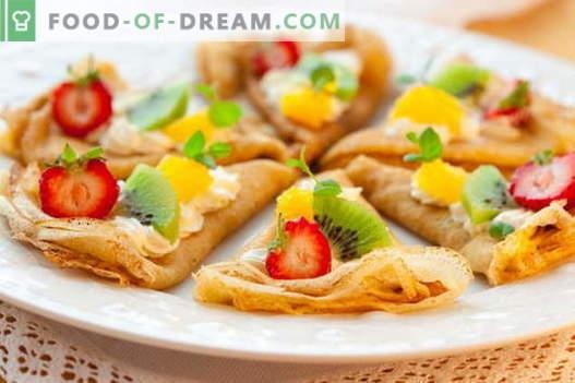 Pancakes sottili - ricette collaudate. Come cucinare correttamente e gustosi pancake sottili.