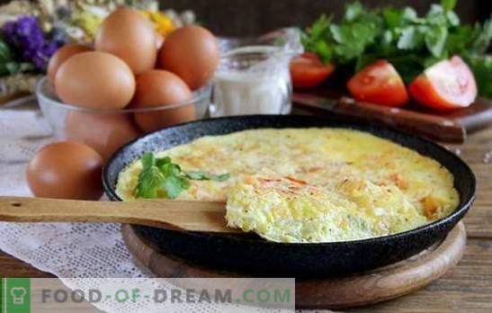 Errori inesperti che producono omelette