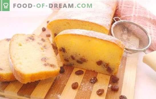 Torta di ricotta con uvetta - sempre ariosa e tenera! Le migliori ricette per muffin festosi e giornalieri di ricotta con uvetta