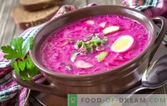 Barbabietola: una ricetta passo-passo per la zuppa più brillante. Cottura classica barbabietola calda e fredda (ricette passo dopo passo)