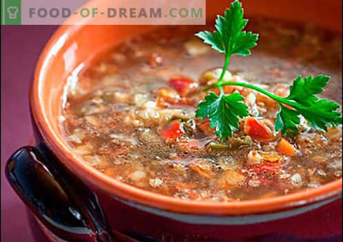 Zuppa di grano saraceno - ricette collaudate. Come cucinare correttamente e cucinare con grano saraceno.