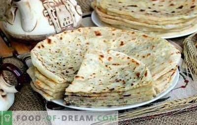 Caucasico Khychyny: ricette passo-passo per tortillas con ripieno. Come cucinare formaggio, carne, patate khichina (passo dopo passo)
