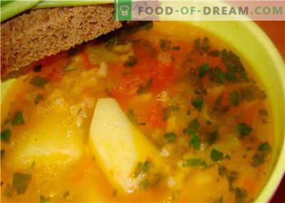 Zuppe senza carne - le migliori ricette. Come zuppa corretta e gustosa senza carne.