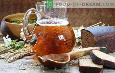 L'infuso casalingo (ricetta graduale) è una bevanda rinfrescante naturale. Ricetta passo-passo per kvas fatti in casa con lievito e lievito