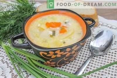 Sopa de queijo processada - uma receita passo-a-passo com fotos