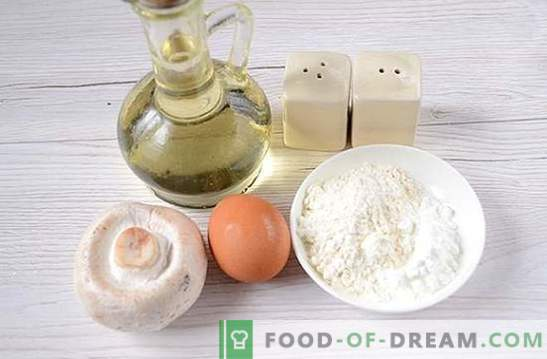 Braciole di funghi: una ricetta fotografica passo-passo. Cucinare deliziosi tortini di champignon - diversificare le cene di famiglia!