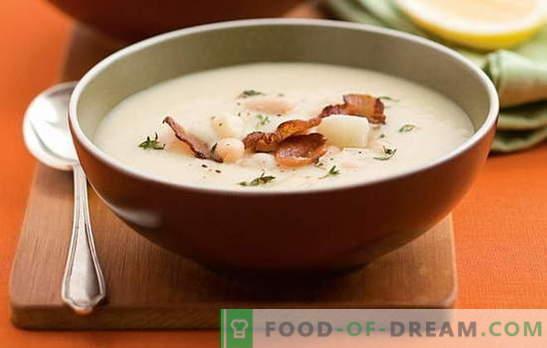 Zuppa di fagioli bianchi - una piacevole conoscenza! Ricette per diverse zuppe di fagioli bianchi: pomodoro, carne, formaggio, affumicato, funghi