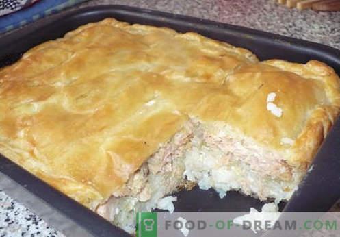 Filetto di torte con cavolo, patate, kefir e una pentola a cottura lenta. Le migliori ricette di torte in gelatina.