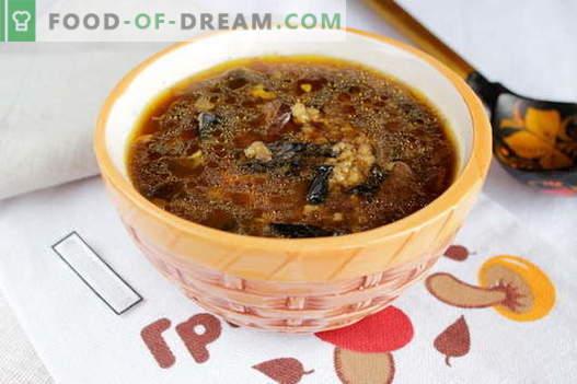 Zuppa Di Funghi Secchi Le Migliori Ricette Come Cucinare Correttamente E Gustoso Zuppa Di Funghi Secchi