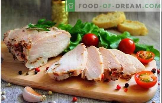 Il petto di pollo è un ingrediente unico per ogni pasto. Come cucinare il petto di pollo: quanto tempo è necessario cuocere fino a cottura