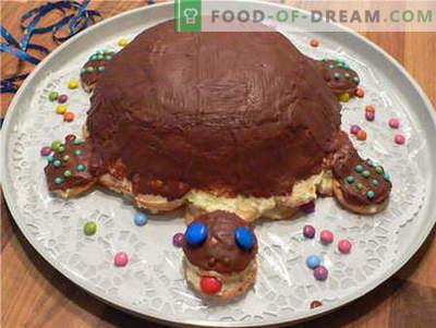 Torta tartaruga - le migliori ricette. Come cucinare correttamente e gustoso torta tartaruga.