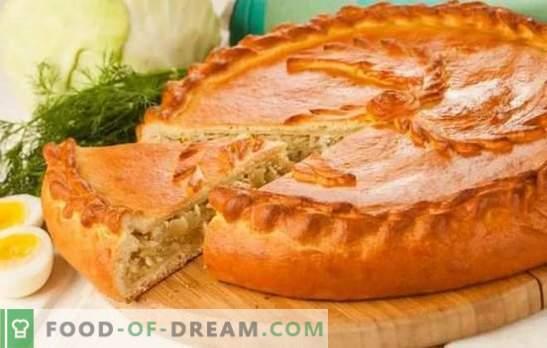 Pasticci con cavolo in forno - ricette passo-passo per deliziosi pasticcini. Ricette di torte di massa e lievito con cavolo in forno
