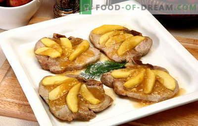 La carne con le mele è un insieme meraviglioso! Ricette incredibili carne con le mele in forno, in vaso, nella padella