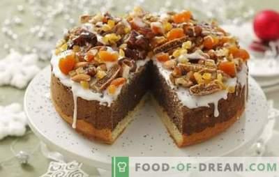 Torta con albicocche secche e prugne secche: ricette e segreti di cucina. Cottura di una torta fatta in casa con albicocche secche e prugne con crema di panna acida