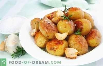 La patata con l'aglio è soddisfacente e salutare. Opzioni di cottura per patate preferite di tutti con aglio