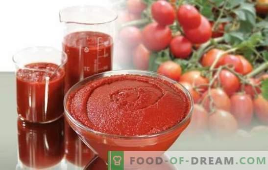 Il concentrato di pomodoro per l'inverno è una conservazione universale. Come cucinare una deliziosa pasta di pomodori per l'inverno: spessa e piccante