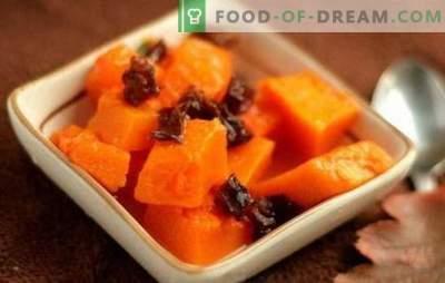 Zucca con prugne secche - un mare di sapori e benefici! Ricette per piatti di zucca stufati, fritti e al forno con prugne