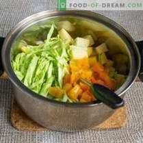 Zuppa di cavolo semplice del primo cavolo