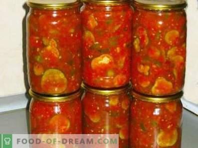 Cetrioli in salsa di pomodoro per l'inverno