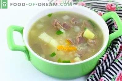 Zuppa di pollo allo stomaco