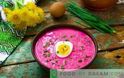 Cold beetroot borsch - delicious! Secrets of cold borsch from pickled beets and freshly harvested root vegetables