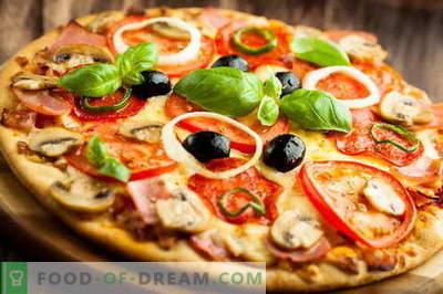 Cucinare la pizza italiana e liberare il frigorifero